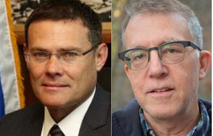 KEYNOTE: Israeli Consul General David Siegel, left,  and Mitchell Landsberg, Deputy Foreign & National Editor of the Los Angeles Times, will be keynote speakers at the Third Annual Jewish Scholastic Journalism Conference and Shabbaton Feb. 25-28 in Los Angeles.