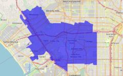 NEIGHBORHOOD: The 54th Assembly district includes Beverlywood, Pico-Robertson, Westwood and other areas where most Shalhevet students live.   Photo by zipdatamaps.com